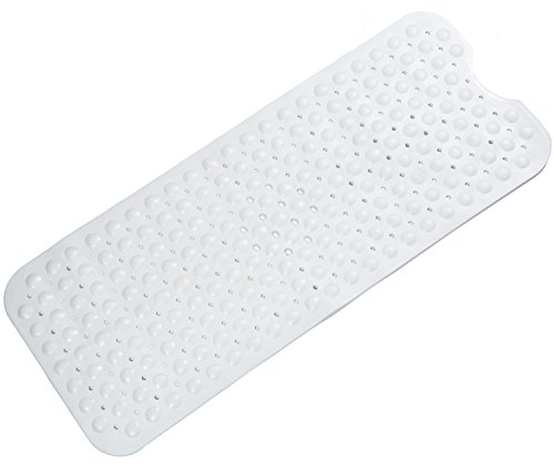 Extra Long Bath Mats for Tub, Eco Friendly TPE Soft Bathtub Mats 40 x 16 Inch Non Slip Mildew Resistant Anti Bacterial, BPA, Latex, Phthalate Free, Machine Washable Large Shower Mat (White) by Mantto (Image #4)