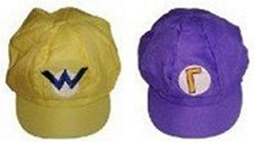 [Super Mario Series Cosplay goods (Wario & Waluigi Style Cap Yellow & Purple)] (Daisy And Luigi Halloween Costumes)
