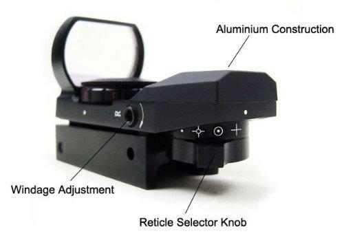 IRON JIA'S 20mm airsoft Tactical ferroviaire multi réticule 4 Rouge et Green Dot Sight Portée queue d'aronde Monts Red… 5