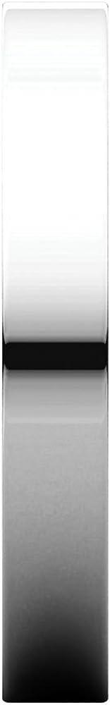 14K White Gold 3mm Flat Band