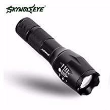 LED Handheld Flashlight, 4000 Lumen Military Grade handful lights Adjustable Focus Zoomable 5 Light Modes Tactical Flashlight, Outdoor Water Resistant for Hiking, Camping Home, Emergency