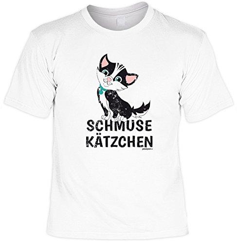 Herren - Oberteil Fun-T-shirt als tolles Geschenk zum Geburtstag Vatertag Schmuse Gr: L Farbe: weiss