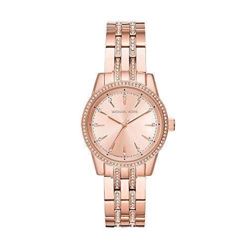 Michael Kors Watches Womens Mini Ritz Rose Gold-Tone Watch (Rose Gold)