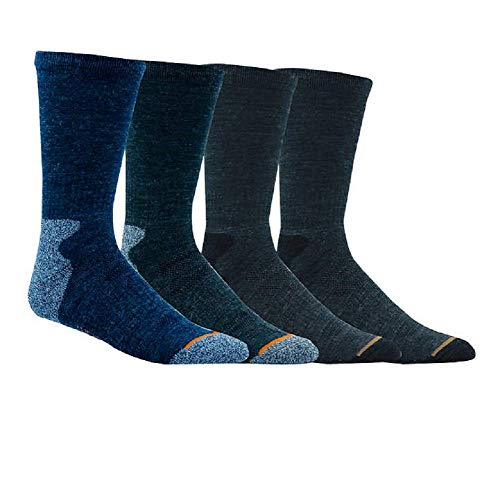 (Weatherproof Premium 4-Pair Men's Wool Blend Crew Socks (Shoe: 6-12, Multi: Olive/Gray/2)