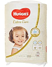 Huggies Extra Care Diapers Size 4+, Jumbo Pack, 10-16 kg 64 Diapers
