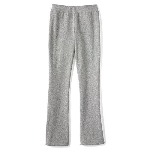Lands' End Girls Yoga Boot Cut Pants, M, Gray - End Kids Lands Boots