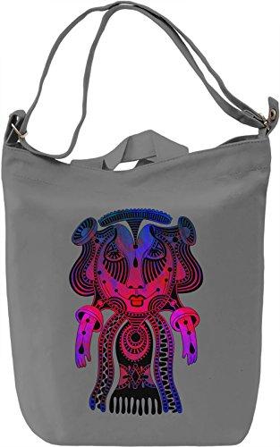 Vivid Lady Borsa Giornaliera Canvas Canvas Day Bag| 100% Premium Cotton Canvas| DTG Printing|