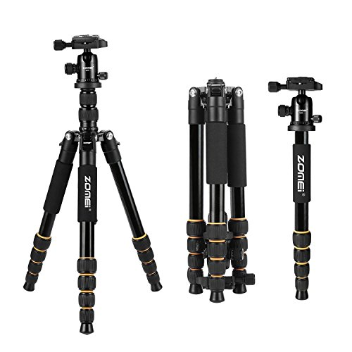 ZOMEI Aluminum Portable Tripod with Ball Head Heavy Duty Lightweight Professional Compact Travel for Nikon Canon Sony All DSLR and Digital Camera