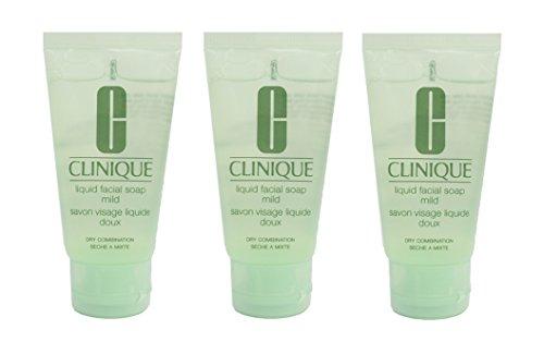 Clinique Liquid Facial Soap Mild Dry Combination 1oz/30ml*3