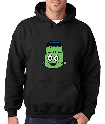 Sweet Emoji Hoodie Halloween Edition Frankenstein Monster Sweatshirt Small Black em 2 -
