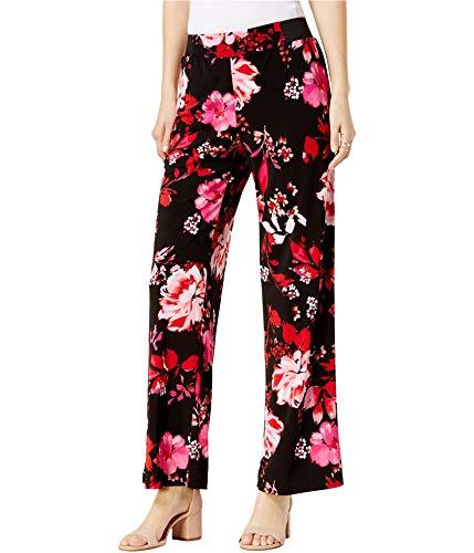 INC International Concepts Women's Floral-Print Elastic Waist Wide Leg Pants (Spring Breeze, X-Large)