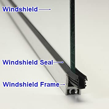 Amazon.com: Manx Buggy Windshield Seal That Goes Between The Glass ...