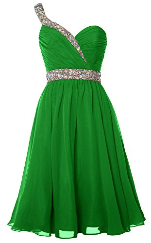 One Formal Dress Gown Gorgeous Short Green Shoulder Prom Party Homecoming MACloth w0xqR5PAa