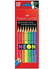 Ecolapis de cor, Faber-Castell, 120410N, cores neon, estojo com 10 cores