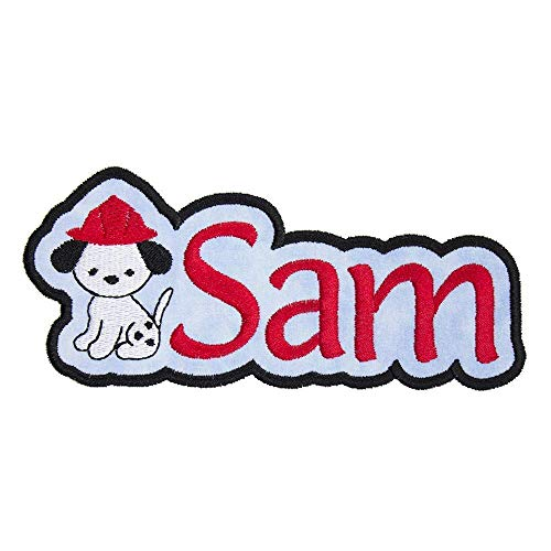Embroidery Dalmatian (Fire Dalmatian Dog Name Patch Personalized Applique Patch - Iron on patch)