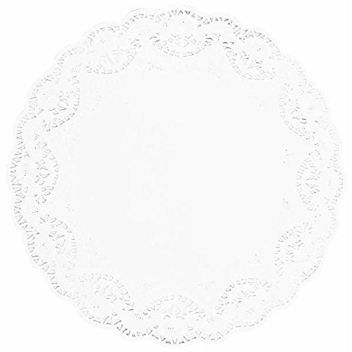 12' Die Cut Borders - Amscan Classic Round Doilies Party Tableware, White, Paper, 12