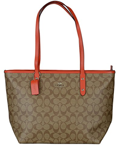 Coach REVERSIBLE CITY TOTE IN SIGNATURE Coated Canvas Womens Bag (one size)