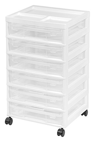 IRIS USA, Inc. 150815 IRIS 6-Case Scrapbook Cart, Black, White -