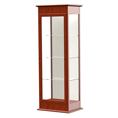 Waddell Varsity Hinged Door Lighted Tower Display Case, 25W by 77H by 18