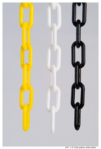 1'' (4 MM) Plastic Chain in White, 250 feet Length
