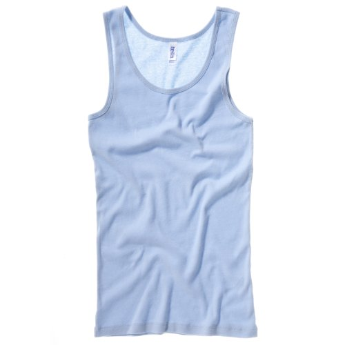 Baby rib tank Top COLOUR Baby Blue SIZE XL