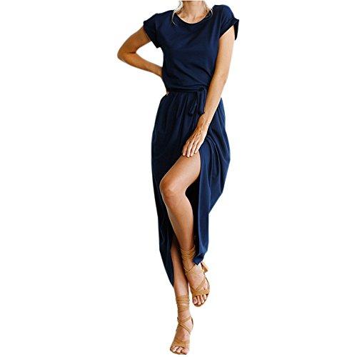 high side splits maxi long dress - 1