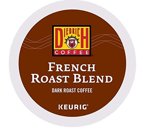Diedrich, French Roast Blend, Single-Serve Keurig K-Cup Pods, Dark Roast Coffee, 96 Count (4 Boxes of 24 Pods)