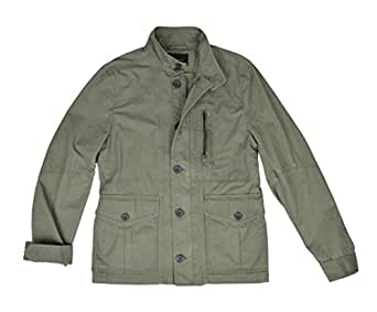 Banana Republic Men's Zip front Field Jacket Night Moss, Green, Size Medium