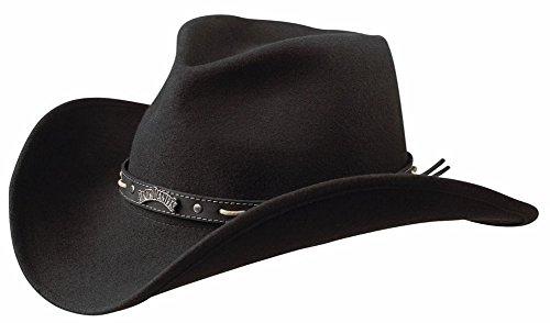 Jack Daniels Men's Crushable Wool Hat Black Medium Jack Daniels Cowboy Hats
