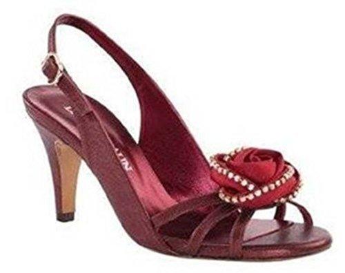 DAVID BRAUN Sandaletten - Sandalias de Vestir de cuero Mujer Rojo - Rouge - Rouge