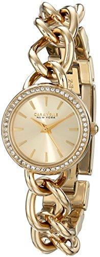 Caravelle New York by Bulova Women's 44L152 Analog Display Japanese Quartz Yellow Gold Watch