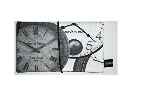 Büroteuse Tabaktasche / Drehertasche im Clock-Time Design, jede Tasche ein Unikat!