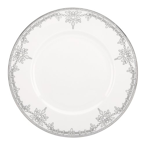 Lenox Marchesa Couture Dinner Plate, Empire Pearl (Pearl Beaded Plate)
