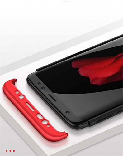 Coque Galaxy S9, Galaxy S9 Plus Case 360 Protection PC 3 en 1 Full Cover Adamark Housse Integrale Bumper Etui Case Accessoires Ultra Fin Et Discret Pour Samsung Galaxy S9/S9 Plus (Sans protecteur de f Argent Noir