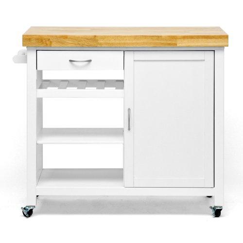 Amazon Com Baxton Studio Denver Modern Kitchen Cart