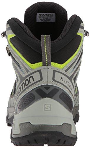Salomon Mannen X 3 Ultra Mid Gtx Trekking & Wandelschoenen, Groen, Grijs Eu 51,3 (beluga / Shadow / Lime Groen 000)