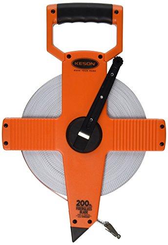 Keson OTR10200 Open Reel Fiberglass Tape Measure Reel (Graduations: 1/10, 1/100), 200-Foot