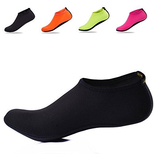 Socks Skin Beach Yoga Shoes Drying Men's Water JACKSHIBO Women's for Flexible Black Aqua Quick Swimming Barefoot Surf qv74B