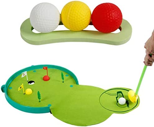 Wohenmang Early Education Sports Game, Kids Golf Club Set Toys, Mini Funny Golf Toy Set for Kids with Light and Music, Interactive Games Golf Toy Set for Kids and Parents