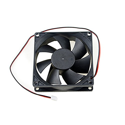 Gino Computer PC Case DC 12V Black 80mm Square Plastic Cooling Fan by TOOGOO(R) (Pc Gino Computer)