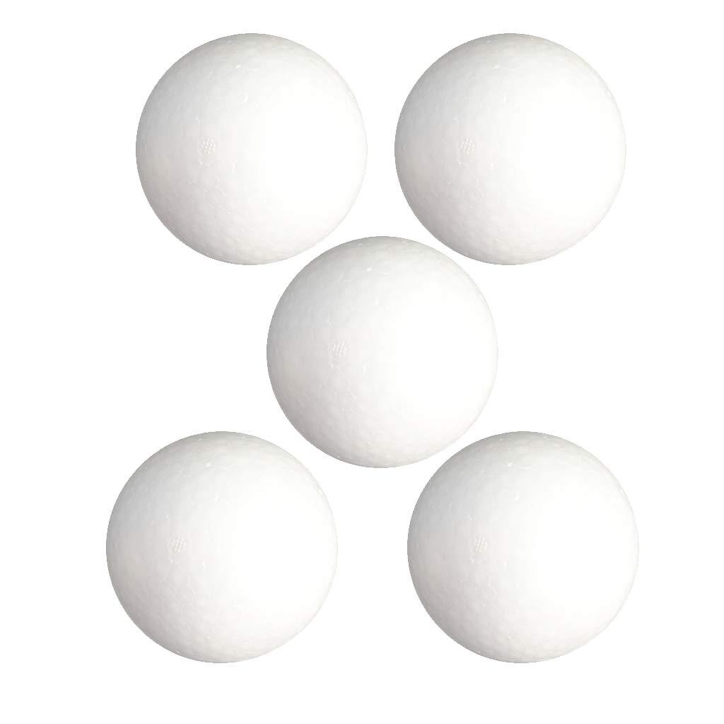 Baoblaze 5pcs 120mm Balles Noël en Mousse Polystyrène Modèles Artisanat Sphères