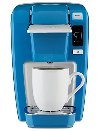 Keurig K15 Coffee Maker, Single Serve K-Cup Pod Coffee Brewer, 6 to 10 oz. Brew Sizes, True Blue