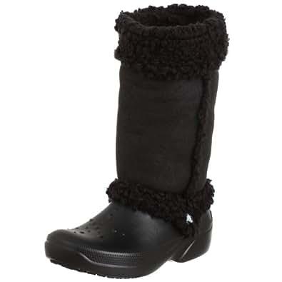 Crocs Women's Nadia Boot,Black,7 M