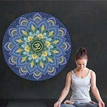 YOOMAT New 60 * 60cm Little Round Yoga Mat Suede Natural ...