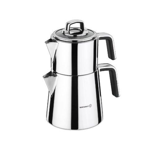 Korkmaz Vertex Tea Pot Set Black
