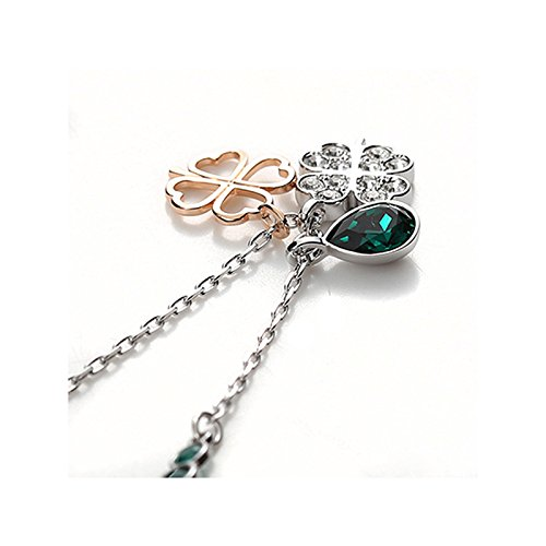42aec1bf7 Swarovski Duo Clover Pendant, Green, Mixed plating: Amazon.co.uk: Jewellery