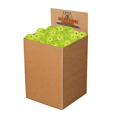 JUGS Bulldog Vision-Enhanced Yellow Poly Baseballs - bulk box of 100 by Jugs