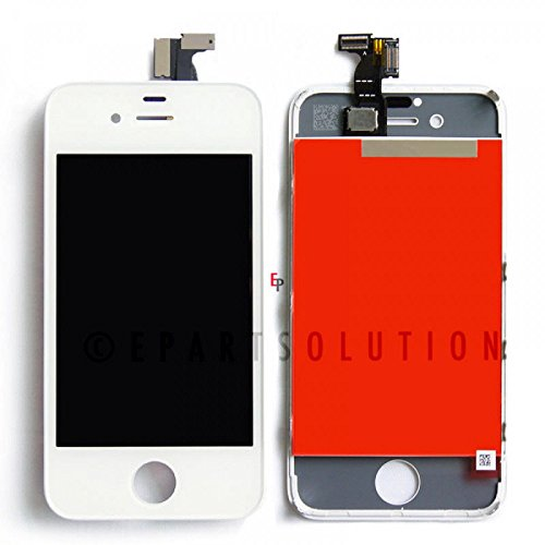 ePartSolution_LCD Display Touch Screen Digitizer Assembly for iPhone 4 | iPhone 4 CDMA | iPhone 4S Replacement Part USA Seller (iPhone 4 CDMA White) (Cdma Lcd)