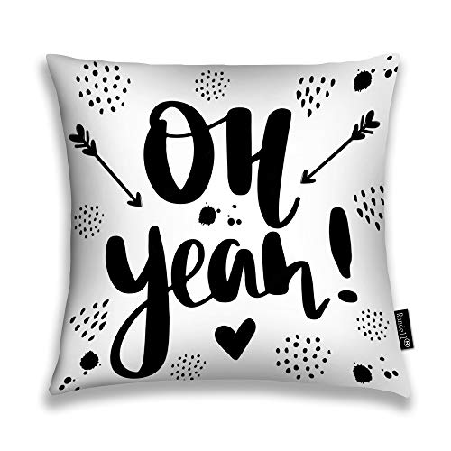 Randell Throw Pillow Covers Oh Yeah Modern Brush