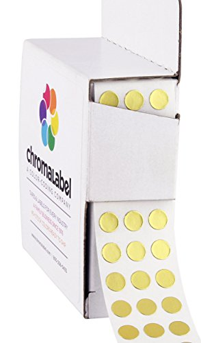 ChromaLabel 1/4 inch Color-Code Dot Labels | 1,000/Dispenser Box (Metallic -